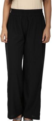 Dieu Regular Fit Women's Black Trousers
