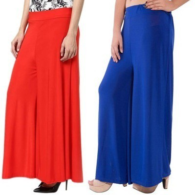 Edge Plus Regular Fit Women's Blue, Red Trousers