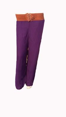 Mastketeers Slim Fit, Regular Fit Women's Purple Trousers