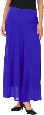 La Verite Regular Fit Women's Blue Trousers