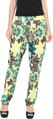 Pryma Donna Regular Fit Women's Yellow Trousers
