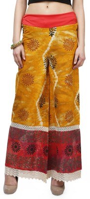 Glam and Luxe Regular Fit Women's Orange Trousers