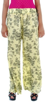 Prakum Regular Fit Women's Yellow Trousers