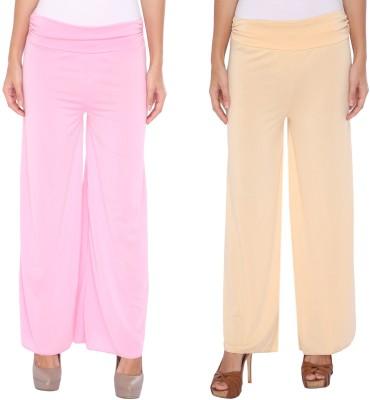 Zadine Regular Fit Women,s Pink, Beige Trousers