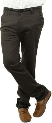 BlueTeazzers Skinny Fit Men's Green Trousers