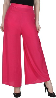 Rooliums Regular Fit Womens Pink Trousers