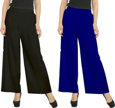 Civilized Showdown Regular Fit Women's Black, Blue Trousers