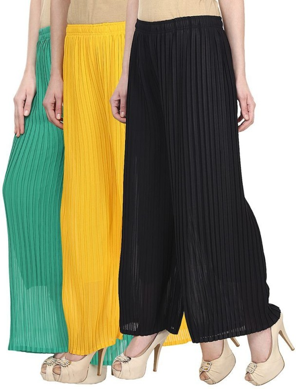 SYS Regular Fit Women's Green, Yellow, Black Trousers