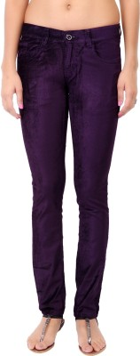 Fashion Cult Slim Fit Women's Maroon Trousers