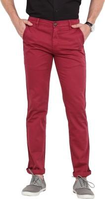 Exitplay Slim Fit Men's Maroon Trousers