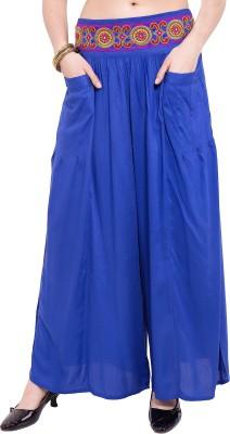 Tuntuk Regular Fit Women's Blue Trousers