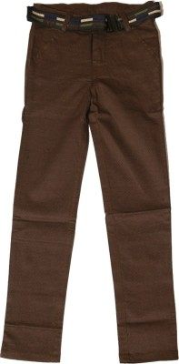 Kidicious Skinny Fit Boy's Brown Trousers