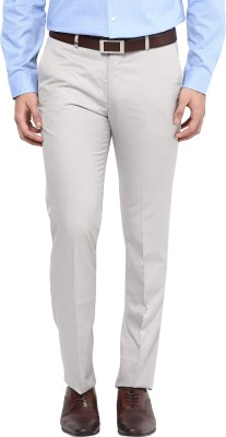 London Bridge Slim Fit Men's Beige Trousers