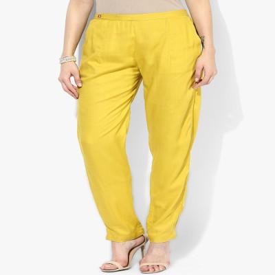 shree Regular Fit Women's Yellow Trousers
