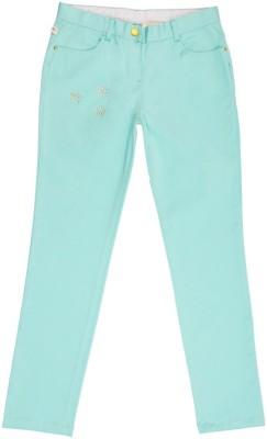 Aristot Regular Fit Girl's Blue Trousers