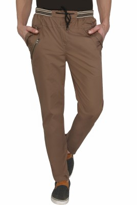 Jazzup Regular Fit Men's Brown Trousers