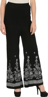 Haniya Regular Fit Women's Black Trousers