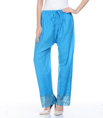 Awesome Regular Fit Women's Dark Blue Trousers