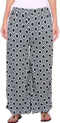 Casam Regular Fit Women's White Trousers
