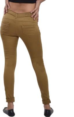 Devis Slim Fit Women's Beige Trousers