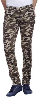 Nimegh Slim Fit Men's Multicolor Trousers