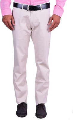 Cortos Regular Fit Men's Cream Trousers