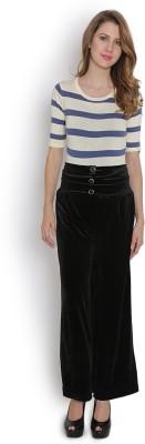 Purple Feather Regular Fit Women's Black Trousers