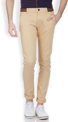 Vintage Slim Fit Men's Cream Trousers