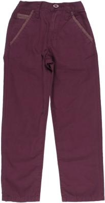 Us Polo Kids Boys Maroon Trousers