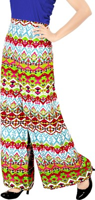 Khushali Regular Fit Women's White, Multicolor Trousers