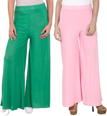 Komal Trading Co Regular Fit Women's Green, Pink Trousers