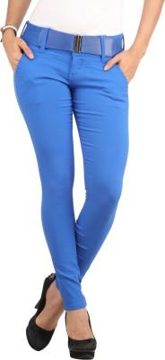 Lotus Slim Fit Women's Blue Trousers