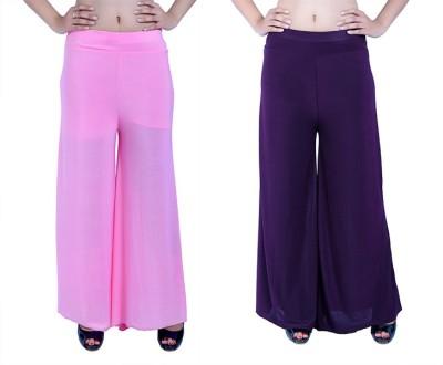 Ajaero Regular Fit Women's Pink, Purple Trousers