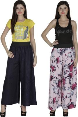 Shopingfever Regular Fit Women's Dark Blue, Pink Trousers