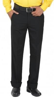 DMARK Slim Fit Men's Black Trousers