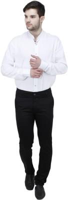 Feels Good Slim Fit Men's Black Trousers
