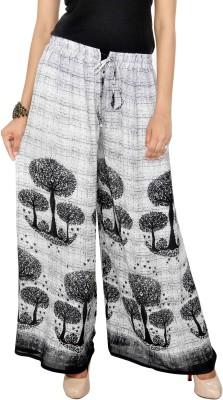 Jaipuri Bandhej Regular Fit Girl's White, Black Trousers
