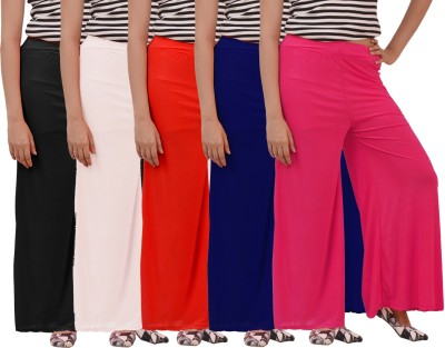 Ace Regular Fit Women's Pink, White, Black, Red, Blue Trousers