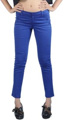 Klouden Skinny Fit Women's Blue Trousers
