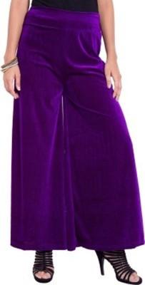 pinksisly Regular Fit Women's Purple Trousers