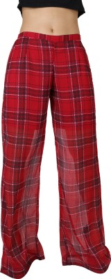Uptowngaleria Regular Fit Women's Red Trousers
