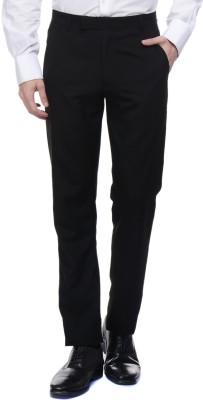 Tiger Grid Slim Fit Men's Black Trousers
