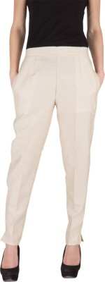 Castle Regular Fit Women's Beige Trousers