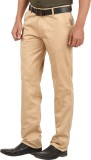 GM Regular Fit Men's Gold Trousers
