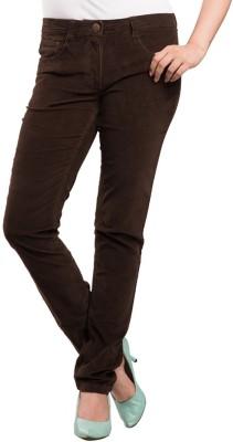 Begonia Regular Fit Women's Brown Trousers