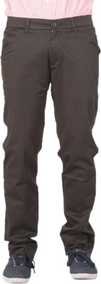 AUSSUM Regular Fit Men's Brown Trousers
