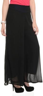 La Verite Regular Fit Women's Black Trousers