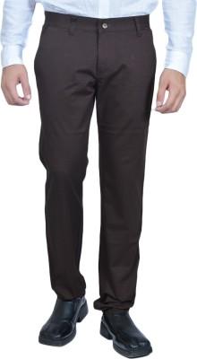 Allen Martin Regular Fit Men's Brown Trousers