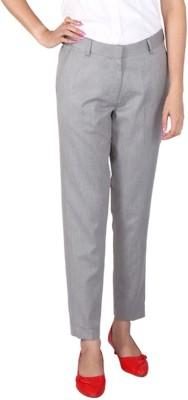 Ramarrow Slim Fit Women's Grey Trousers