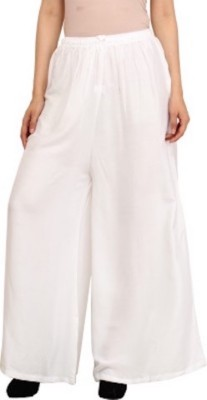 TNQ Regular Fit Women's White Trousers